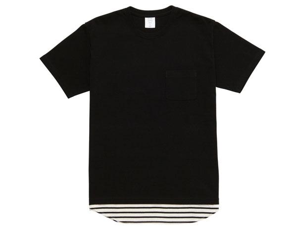 MG-CS01 LAYERED TEE BLACK