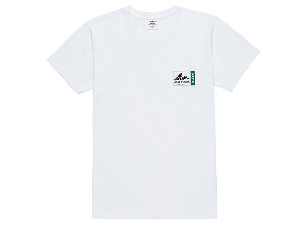 MGK-TE03 MT. NEW YOURS SMALL PRINT TEE WHITE×GREEN