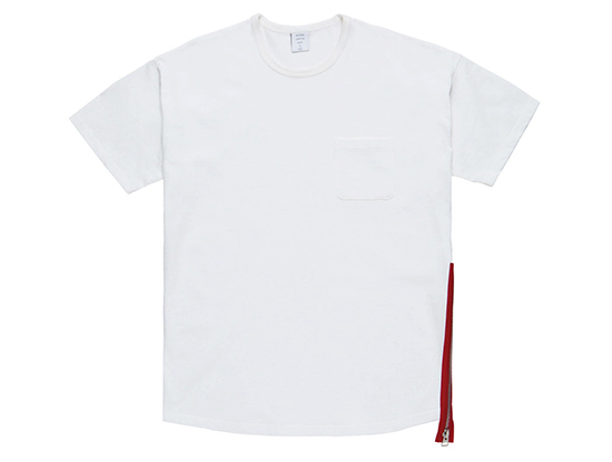 MGK-CS17 SIDE ZIP MODERN TEE WHITE RED