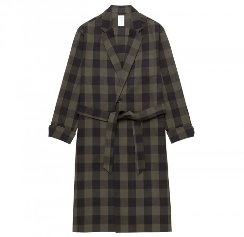 MGL-SH09-2 BUFFALO CHECK GOWN SHIRT KHAKIテ唯LACK