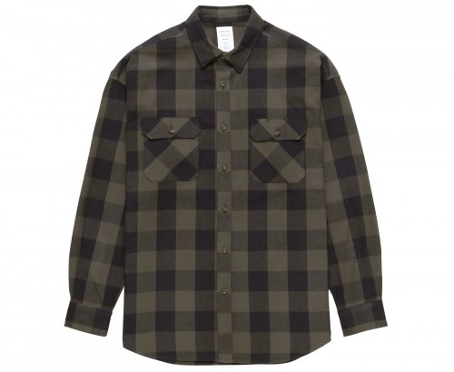 MGL-SH02 BUFFALO CHECK SHIRT KHAKIテ唯LACK
