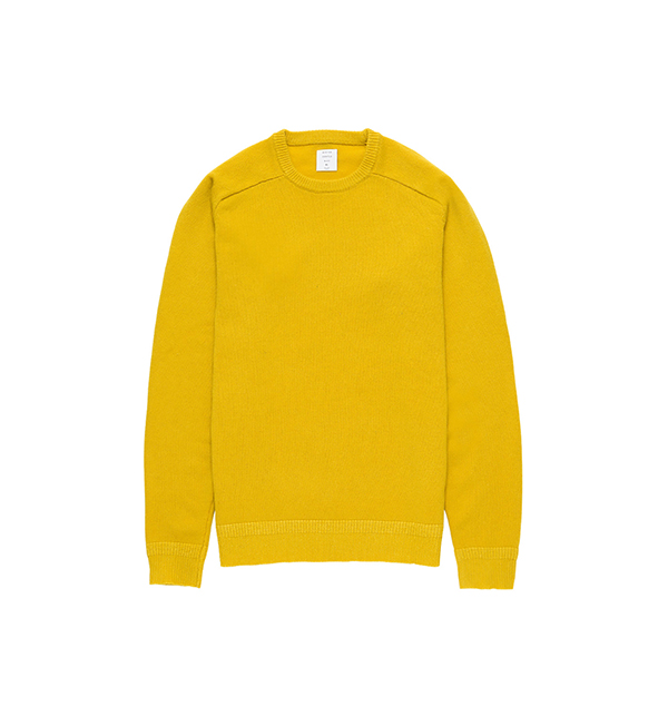 MG-KN01 CREW NECK KNIT YELLOW-C